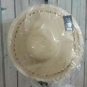 Justin & Taylor Accessories - Beige Straw Sun Hat